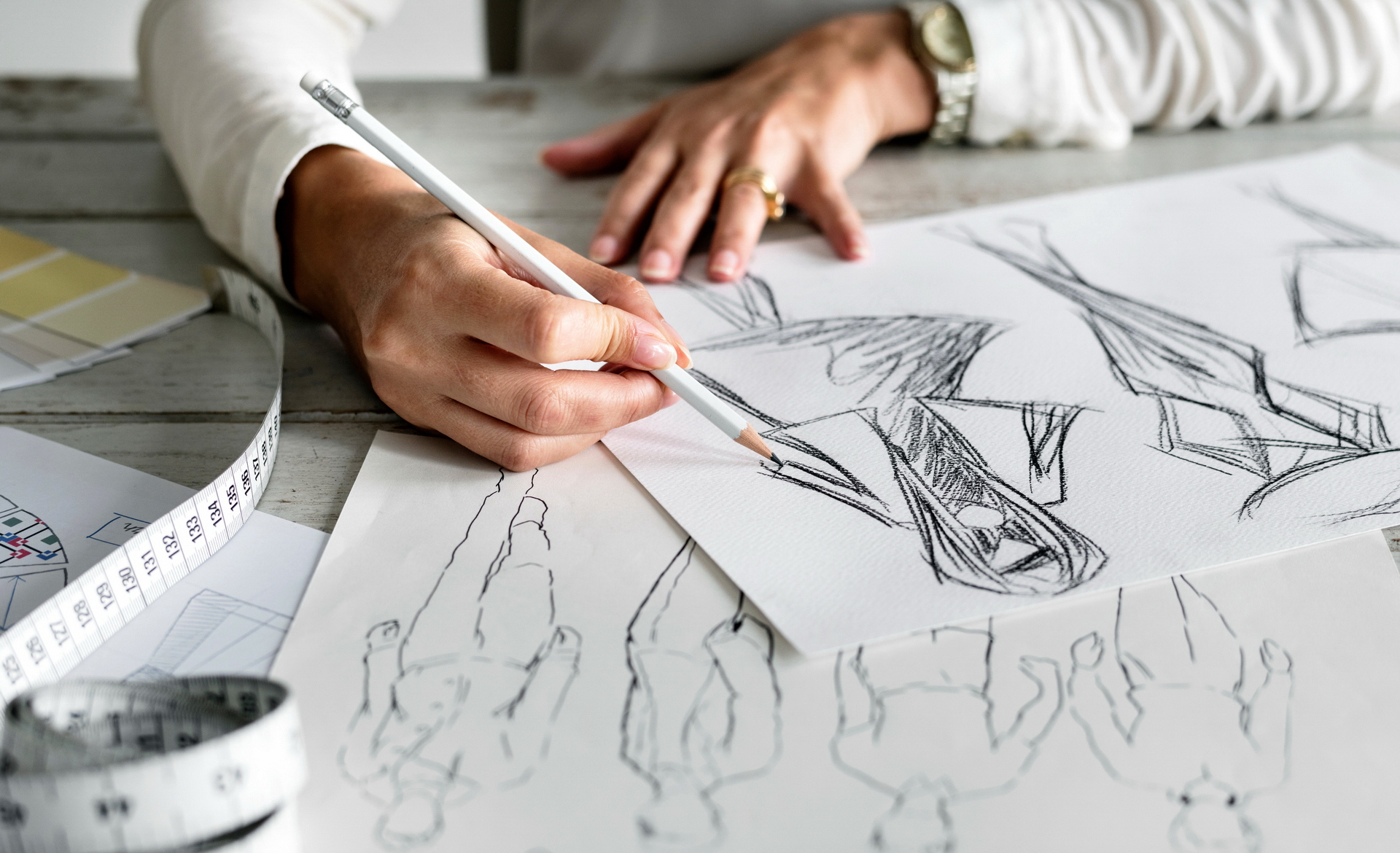 Berufsorietiertes Zeichnen - Modedesign