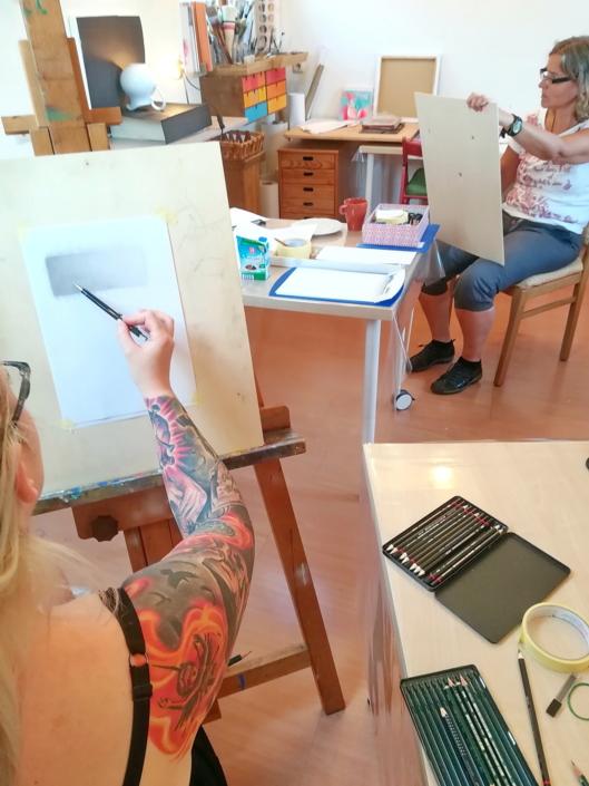 Objektstudie und schattierungs Lehre