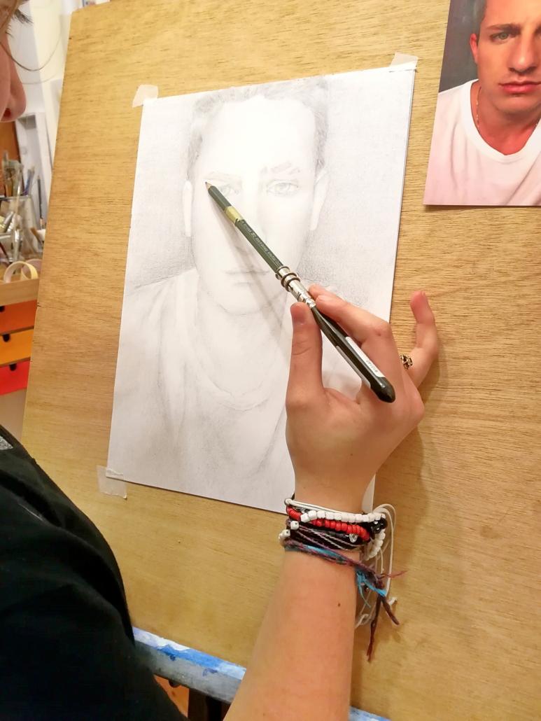 Schulung Portrait Zeichnen