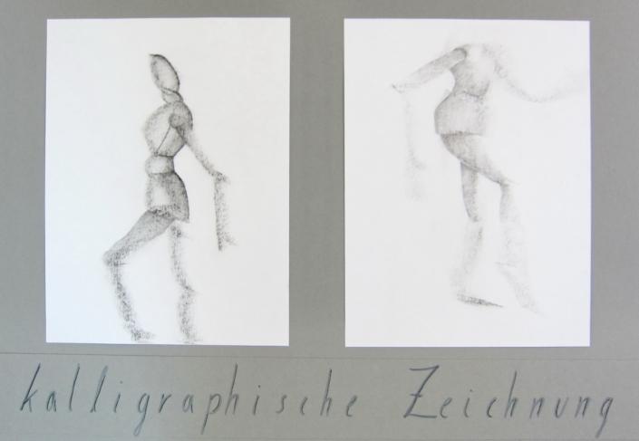 Workshop kalligrafische Schnellerfassung von Körpern