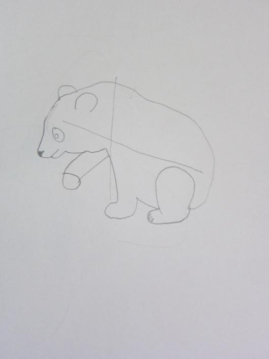 Zeichenstudie Bärenkind