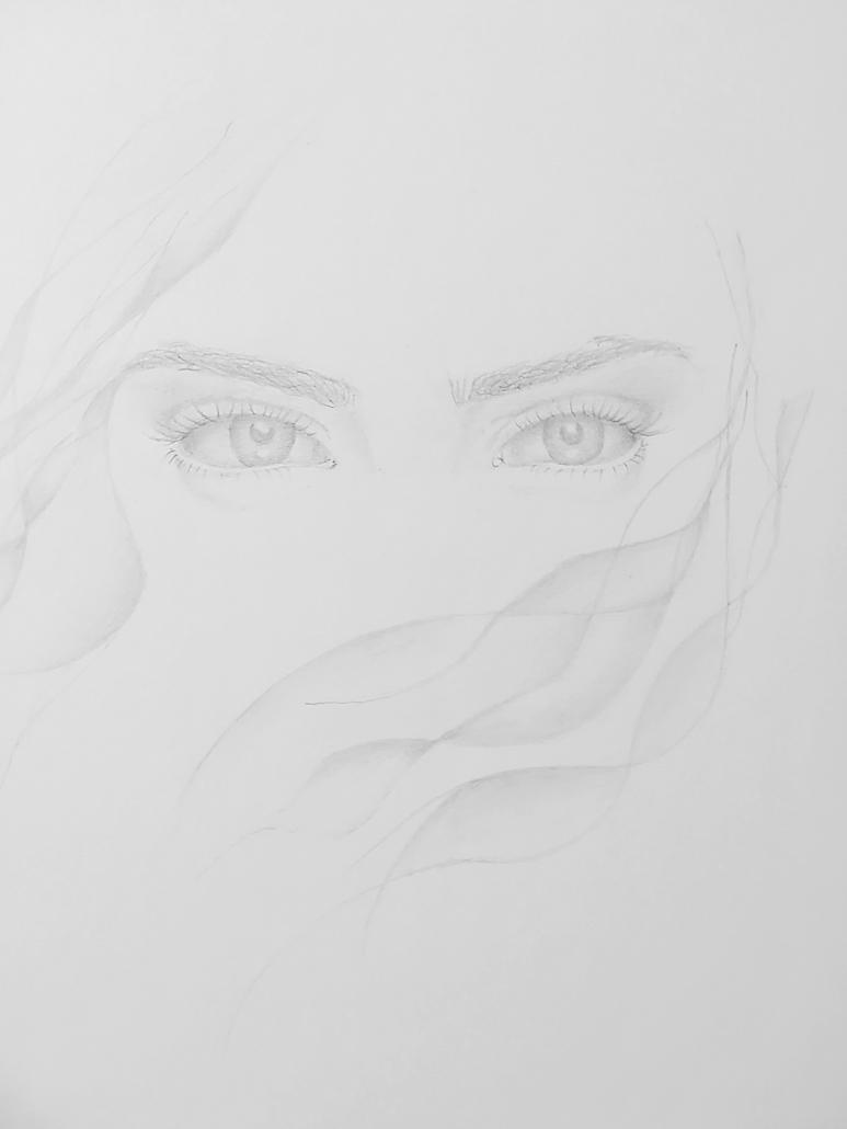 Zeichentechnik Augenstudie