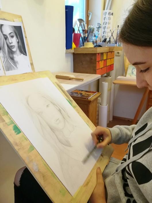 Zeichnung Frauengesicht