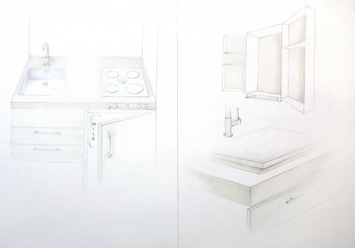 Möbeldesign Mappe Küchenskizze